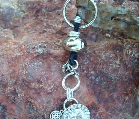 Leather Bling Key Ch..