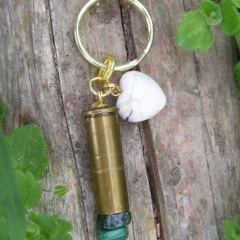 Bullet Key Chain with Agate